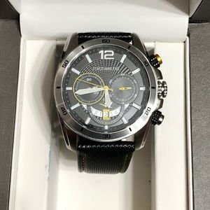 Micheal Hill Yellow Dial Chronograph Watch